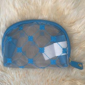 🌷RARE Cruciani Cobalt Blue Tulle Medium Pochette